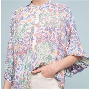 Maeve Anthro Brynna button down blouse TB1